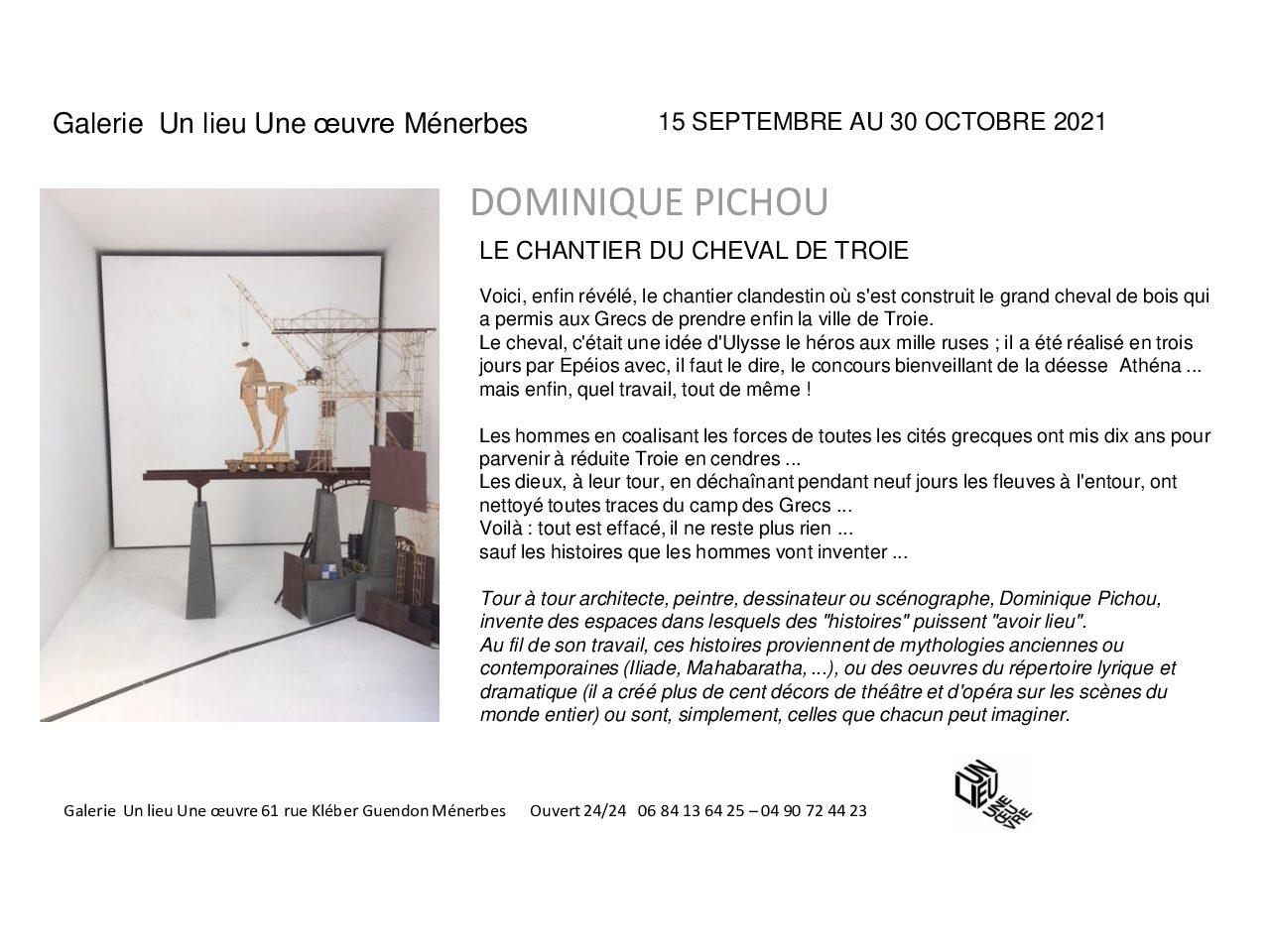 Exposition Dominique Pichou - Galerie Un Lieu Une Oeuvre